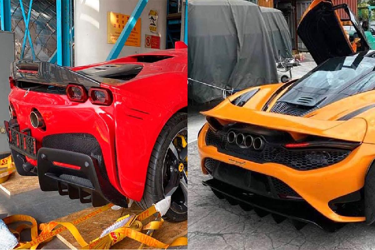 Nu 9x Sai Gon tau bo doi Ferrari SF90 Stradale va McLaren 765LT