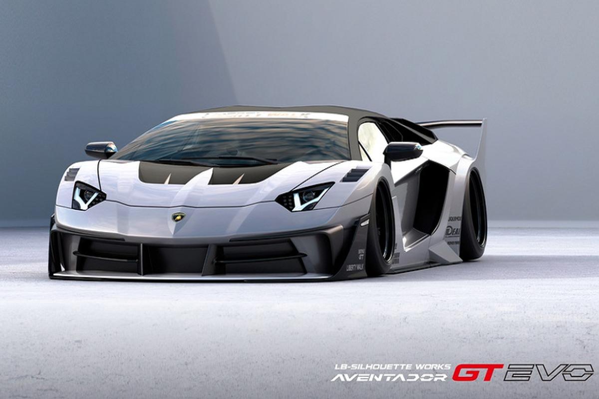 Lamborghini Aventador sieu ham ho voi goi do Liberty Walk