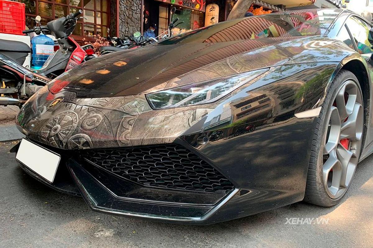 "Sieu xe Lamborghini Huracan voi ""bo canh"" hoa van doc nhat Sai Gon-Hinh-4"