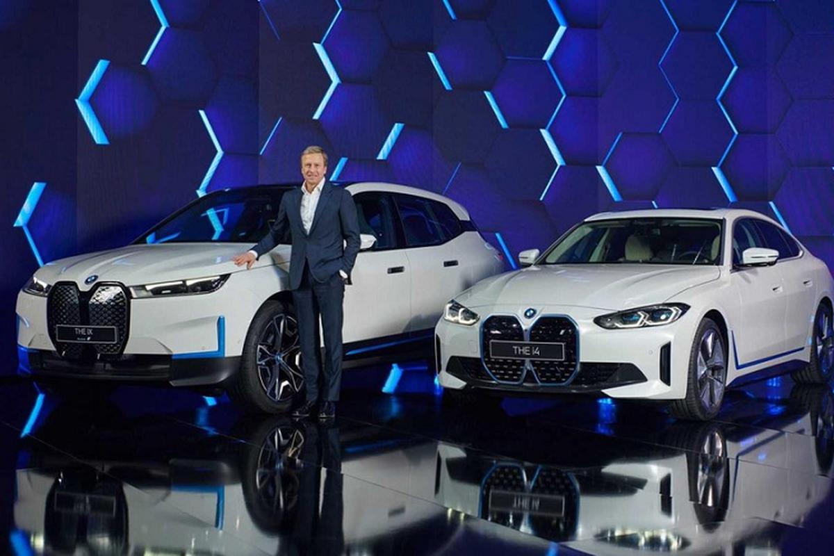 BMW i4 2022, coupe dien manh 523 ma luc chinh thuc trinh lang
