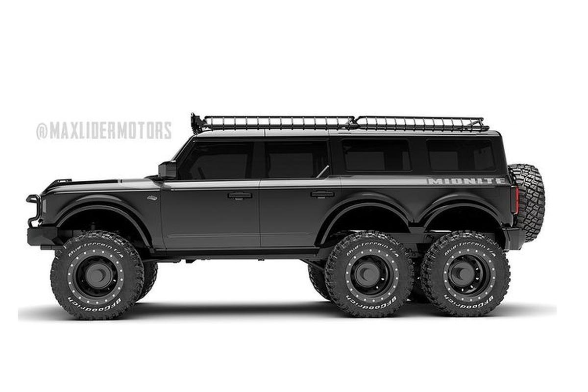 Day la chiec SUV Ford Bronco do 6 banh