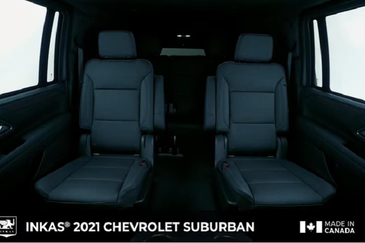 Chevrolet Suburban 2021 chong dan AK-47, luu dan DM51 nho Inkas-Hinh-7