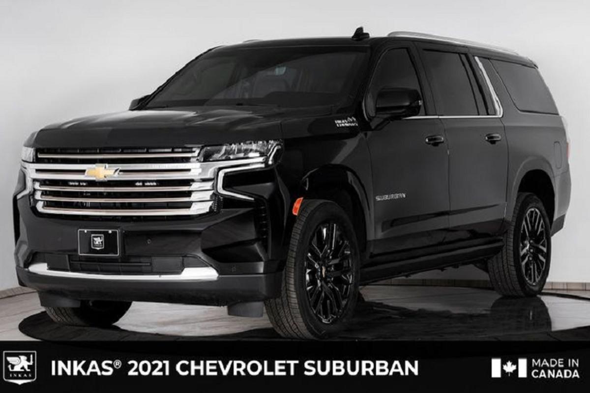 Chevrolet Suburban 2021 chong dan AK-47, luu dan DM51 nho Inkas