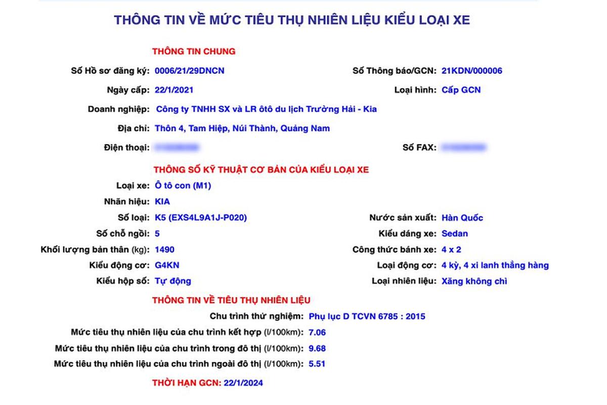 Kia K5 2021 sap ra mat tai Viet Nam,
