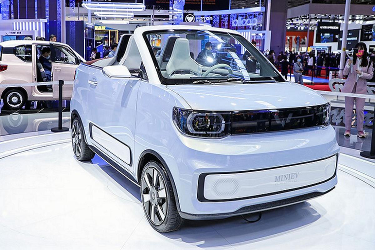 Wuling Hongguang Mini EV Cabrio - mui tran sieu re tai Trung Quoc-Hinh-2