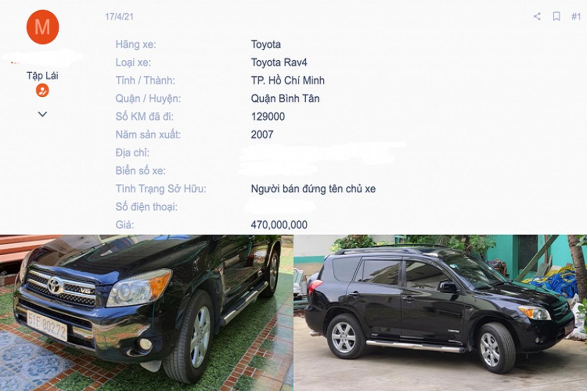 Co nen mua Toyota RAV4 doi 2007, chua toi 500 trieu o Sai Gon?-Hinh-6