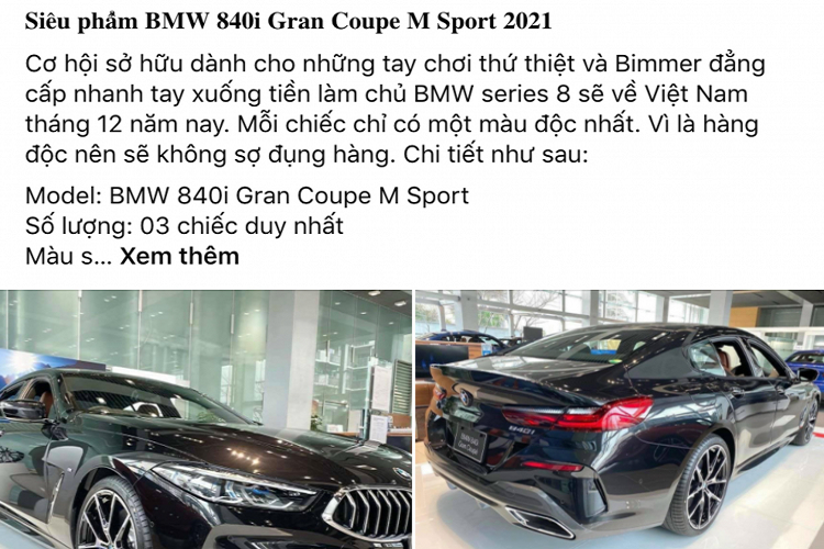 The owner of the car BMW 840i Gran Coupe, about 6.7 million units in Vietnam-Hinh-2