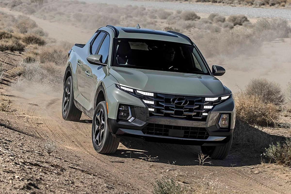 Hyundai Santa Cruz 2022 lo dien hinh anh