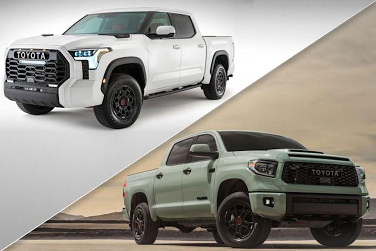Toyota Tundra 2022 moi lo dien hang loat trang bi hap dan
