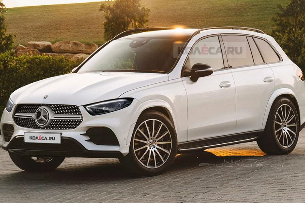 Mercedes-Benz GLC 2022 lo dien, kich thuoc lon hon the he cu-Hinh-2