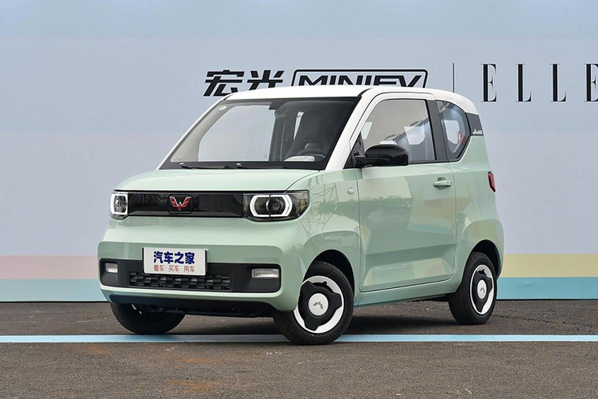 Xe oto gia 100 trieu dong - Wuling Hongguang Mini EV ban chay ky luc-Hinh-2
