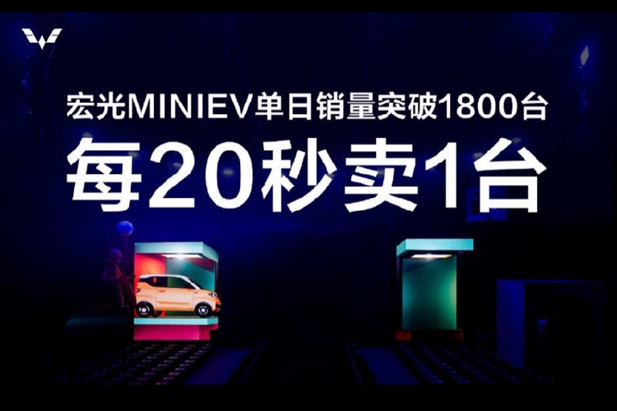 Xe oto gia 100 trieu dong - Wuling Hongguang Mini EV ban chay ky luc