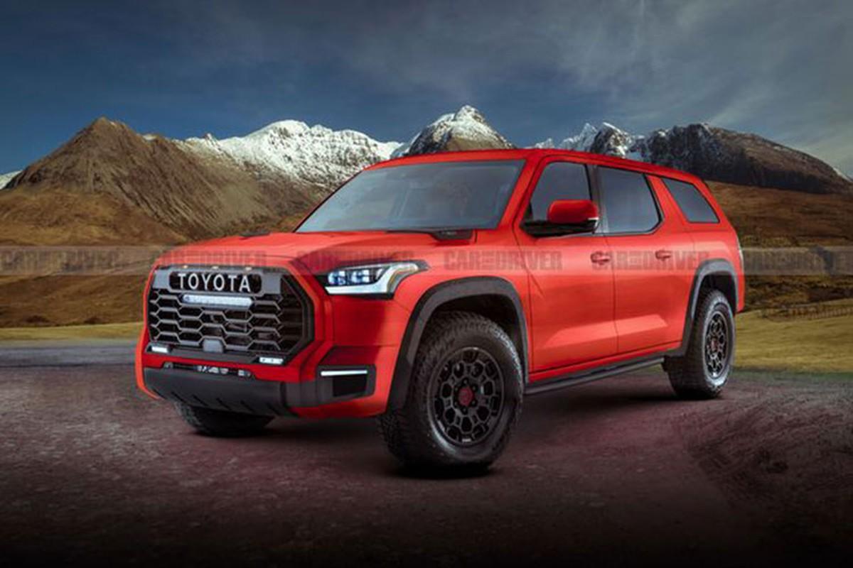 Toyota Sequoia 2022 moi lay cam hung tu sieu ban tai Tundra