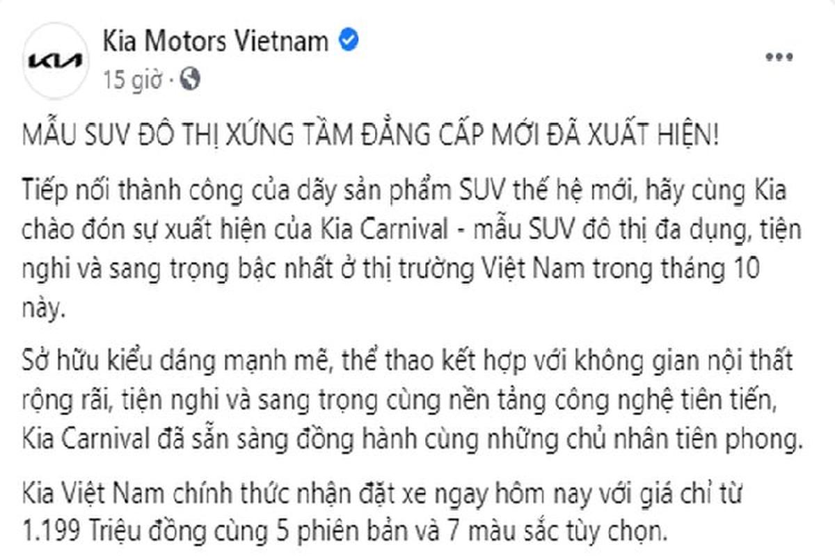 """Kia Carnival 2022 """"hoa"""" SUV do thi Viet Nam, tu 1,2 ty dong-Hinh-4"""
