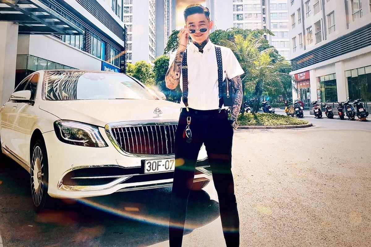 """Chiec xe sang Mercedes-Benz S-Class """"do"""" Maybach cua Hoang Tu Gio"""
