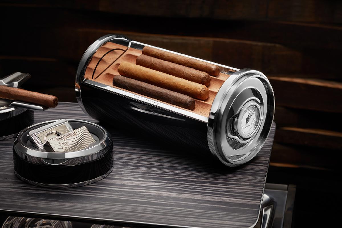 Rolls-Royce Cellarette - ruong dung ruou Whisky va xi ga cuc sang-Hinh-3