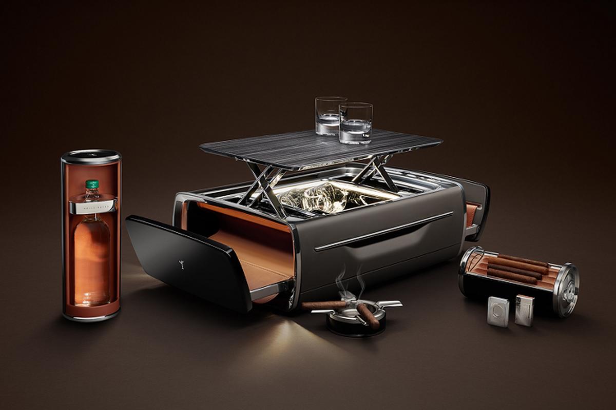 Rolls-Royce Cellarette - ruong dung ruou Whisky va xi ga cuc sang-Hinh-9