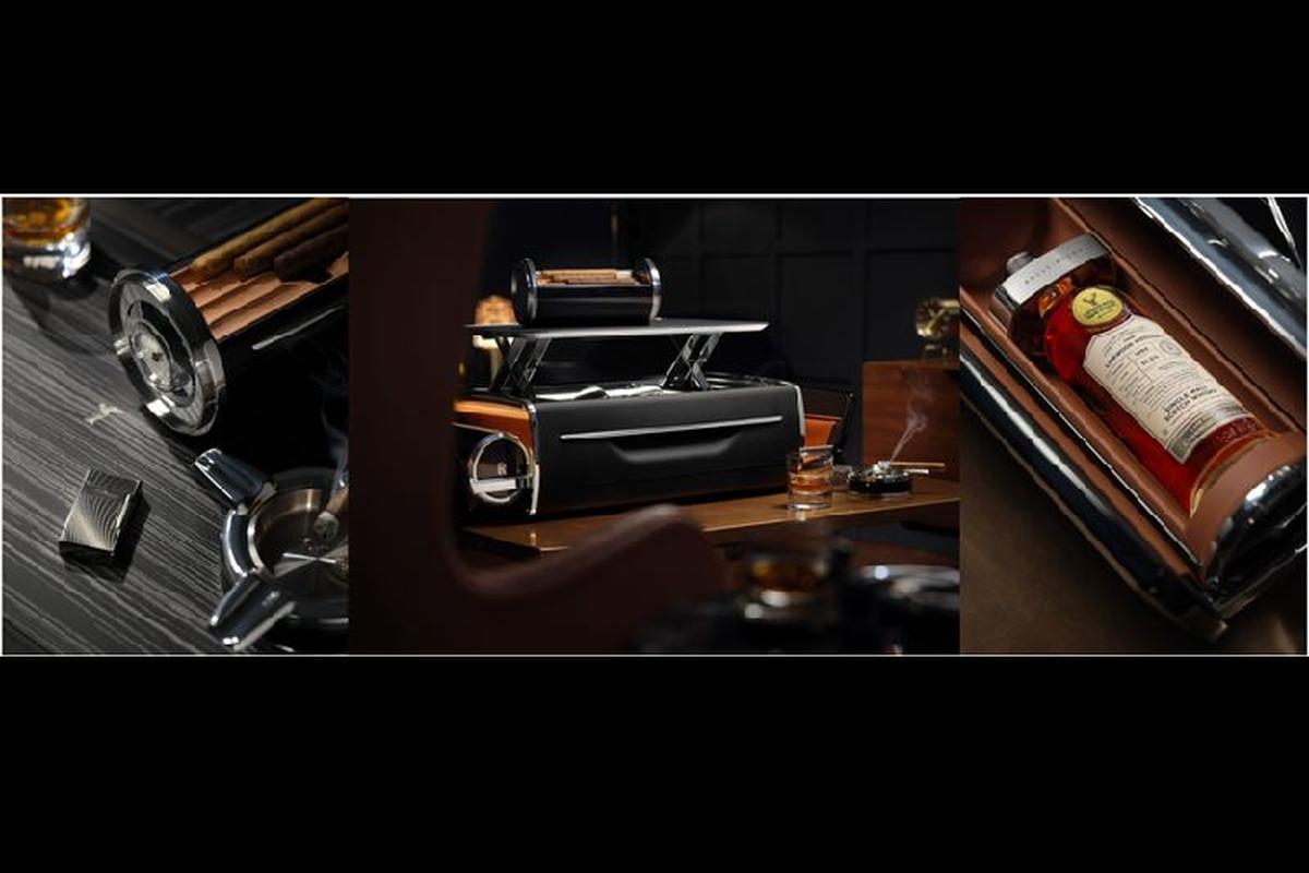 Rolls-Royce Cellarette - ruong dung ruou Whisky va xi ga cuc sang