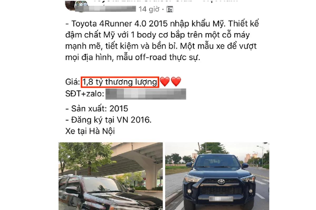 Toyota 4Runner chay 5 nam o Ha Noi, dat ngang Mercedes-Benz GLC-Hinh-4
