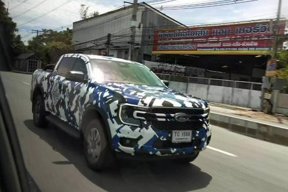 Ford Ranger 2022 moi dang chay thu o Thai Lan, sap ve Viet Nam-Hinh-2