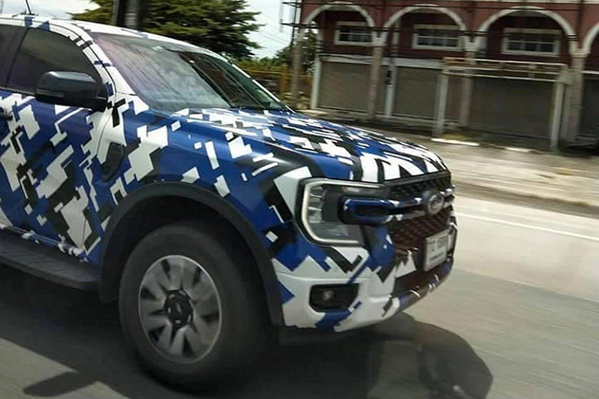 Ford Ranger 2022 moi dang chay thu o Thai Lan, sap ve Viet Nam-Hinh-3