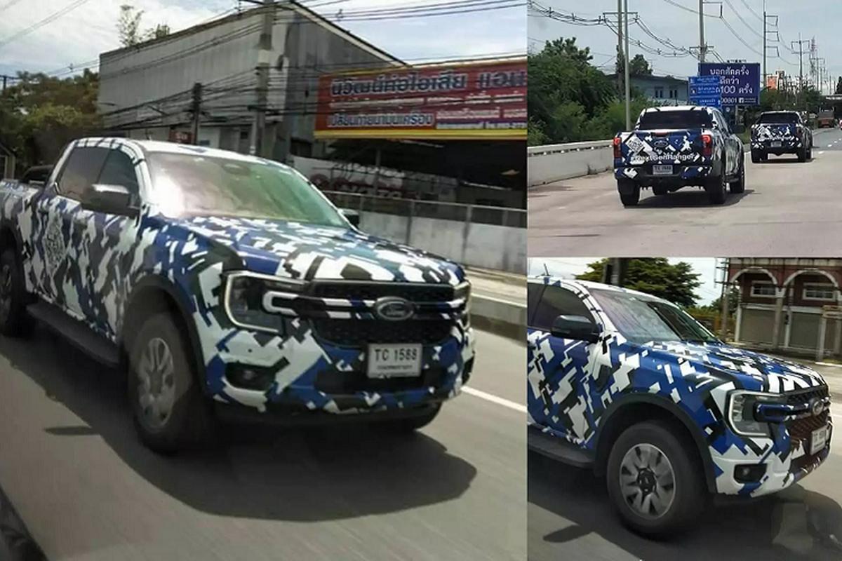 Ford Ranger 2022 moi dang chay thu o Thai Lan, sap ve Viet Nam