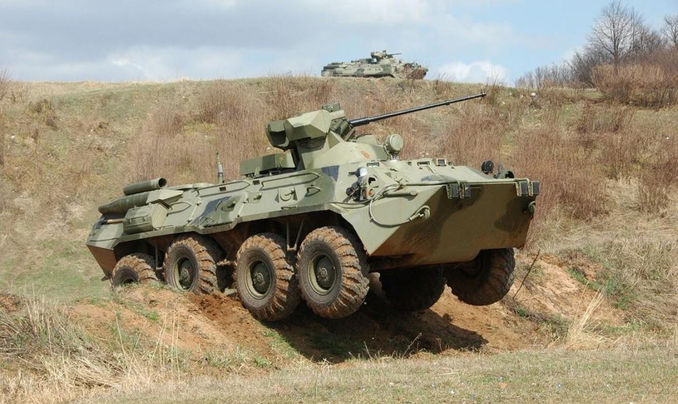 Hoang hon suc manh xe boc thep BTR-82 Nga lap phao 57mm