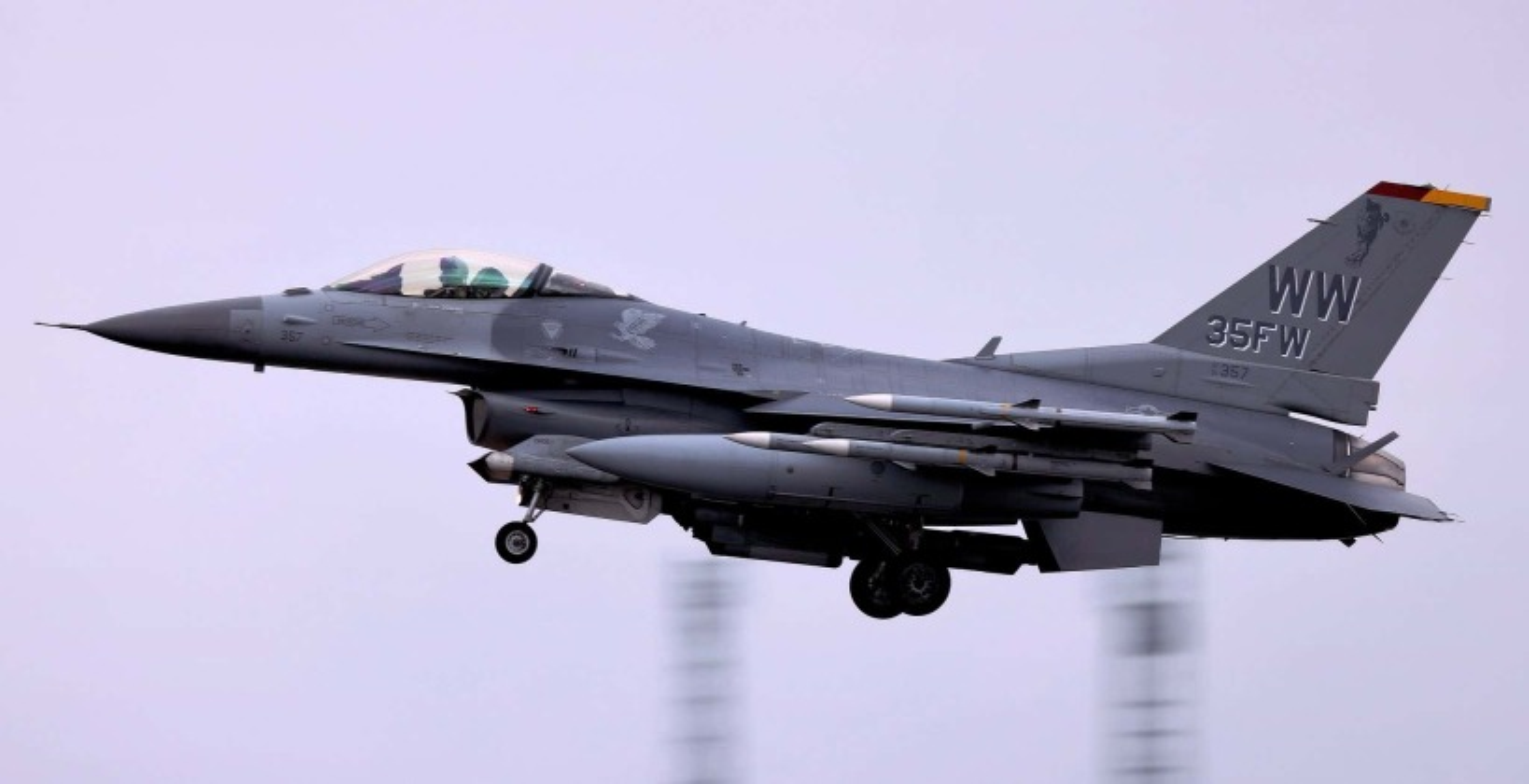 Suc manh dan tiem kich F-16 My dang dat ngay sat nach Trung Quoc