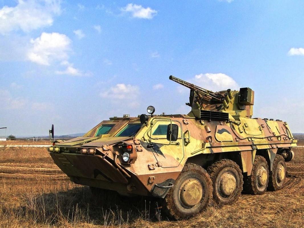 Xe boc thep BTR-3 Ukraine san xuat chay thanh than sau phuc kich-Hinh-12