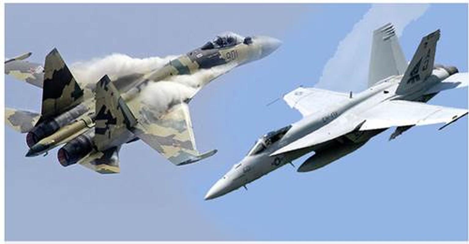 Khi F/A-18E/F Super Hornet cua My dau voi Su-30 cua Nga-Hinh-13