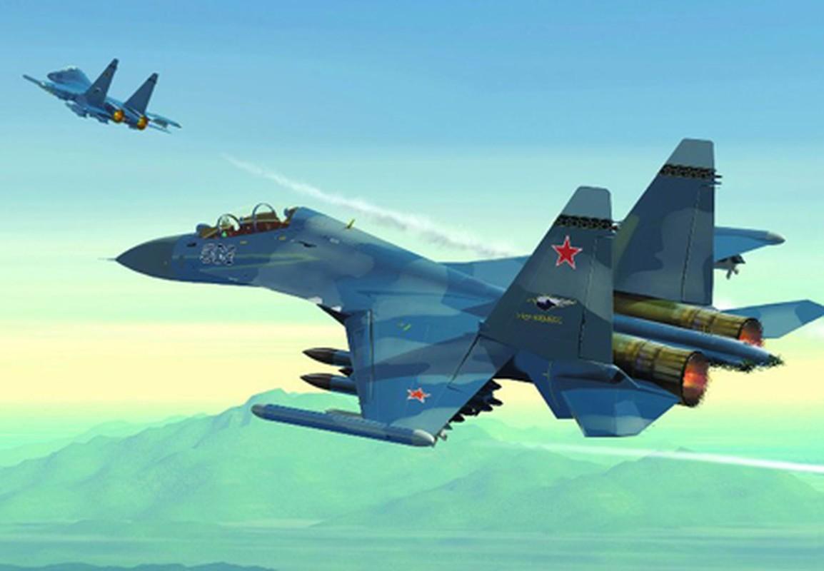 Khi F/A-18E/F Super Hornet cua My dau voi Su-30 cua Nga-Hinh-16