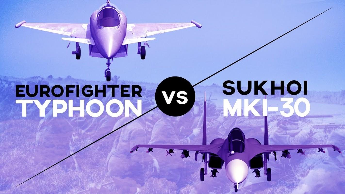 Tiem kich Typhoon cua chau Au co du suc doi dau Su-27 Nga?
