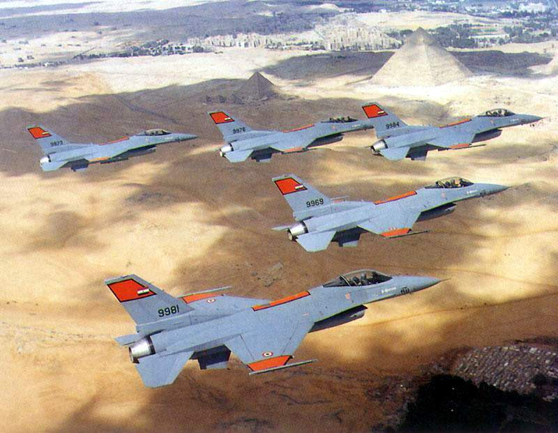 F-16 fighter aircraft of Egyptian air force