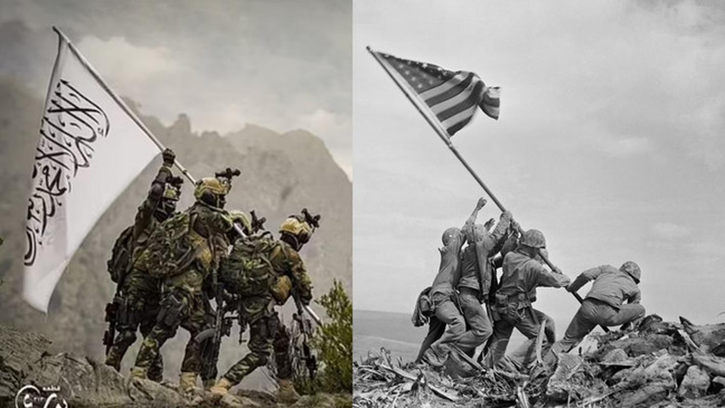 Taliban tai dien canh cam co mo phong su kien Iwo Jima sau 76 nam