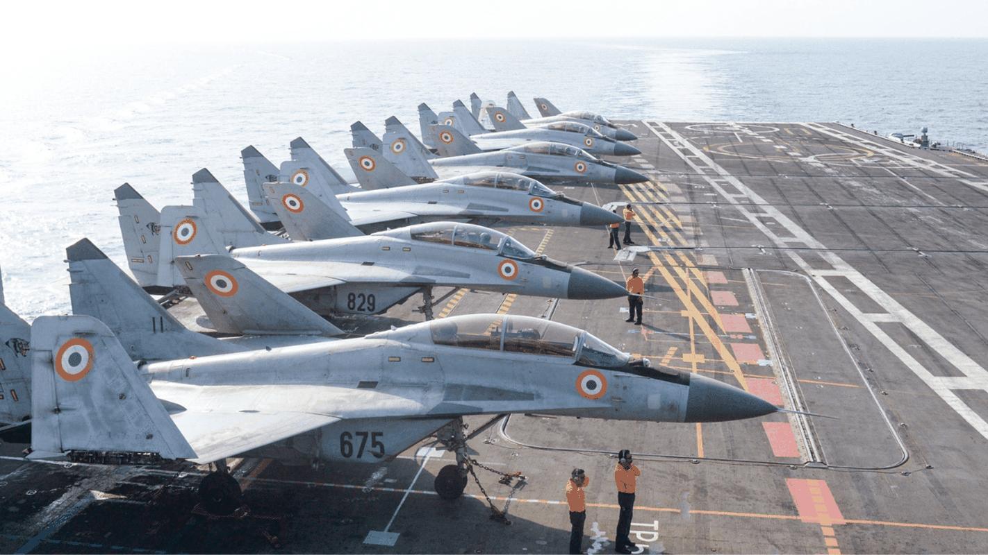 Indian navy MiG-29k on board INS Vikramaditya