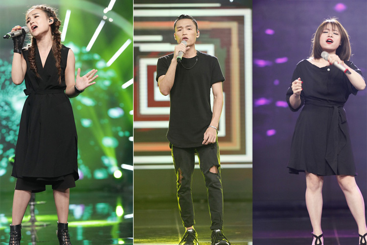 Thu Minh than thiet voi Bang Kieu o hau truong Vietnam Idol-Hinh-13