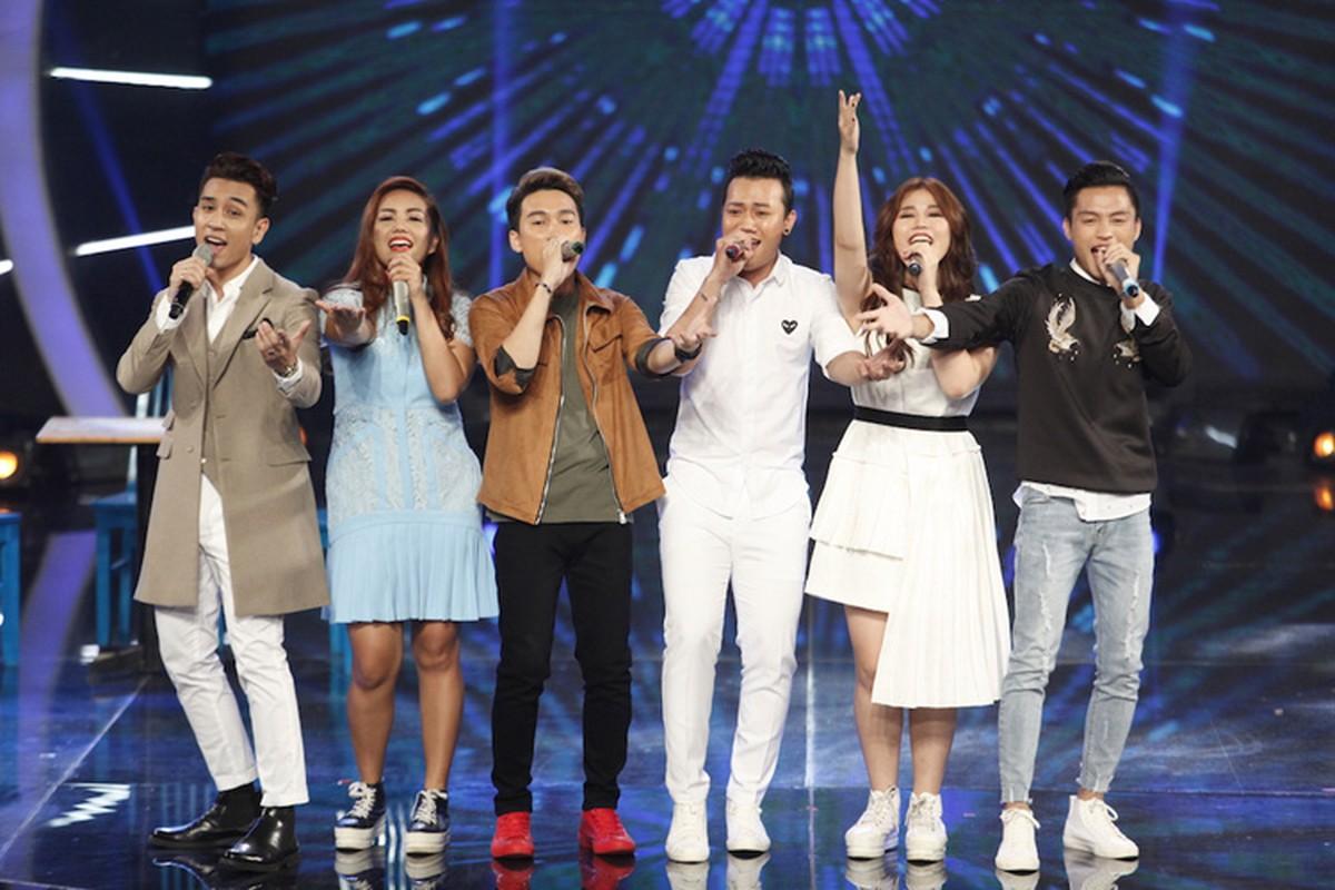 Thu Minh dua gion voi ong xa o hau truong Vietnam Idol-Hinh-10