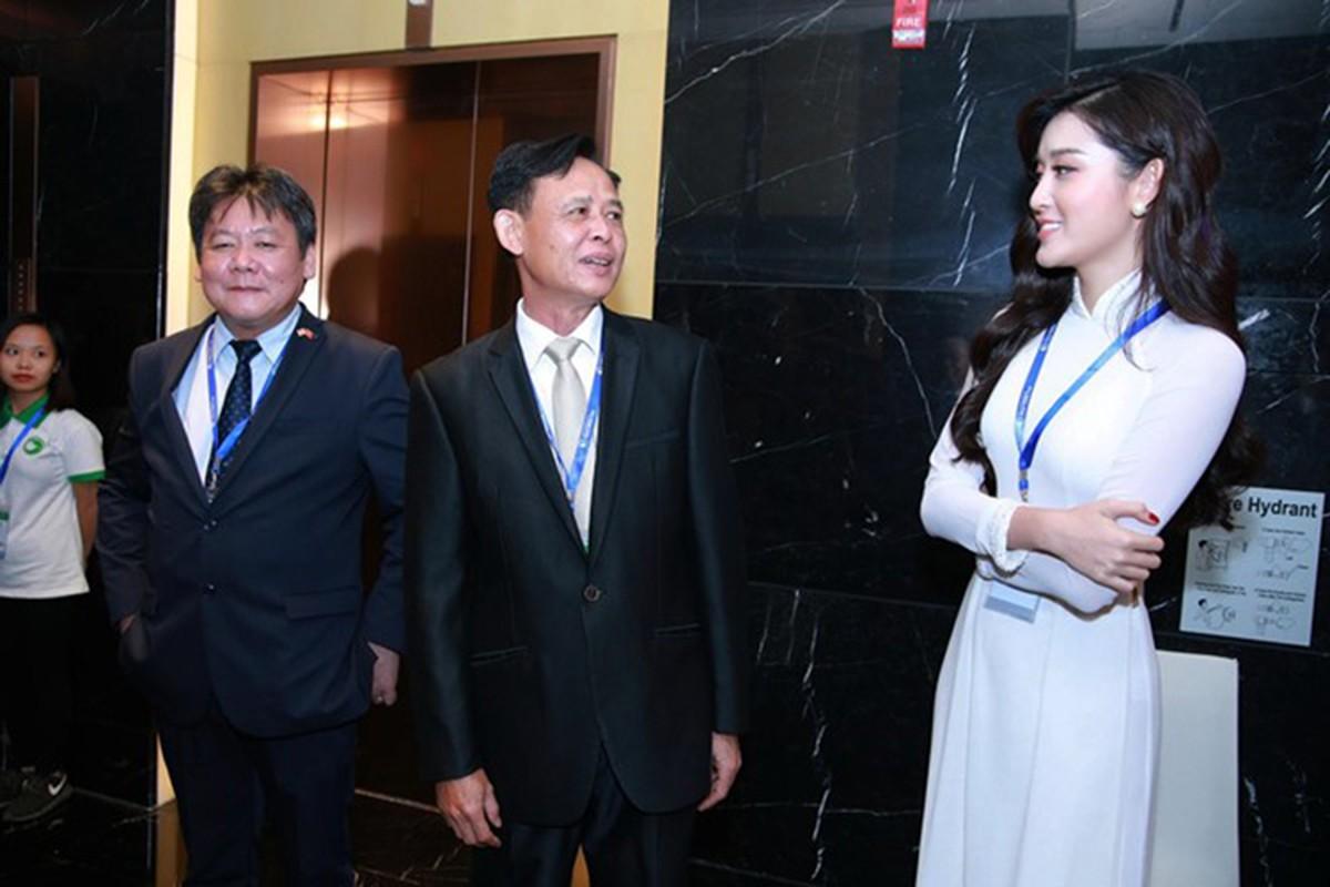A hau Huyen My dien ao dai don tiep Hoang tu Anh-Hinh-5