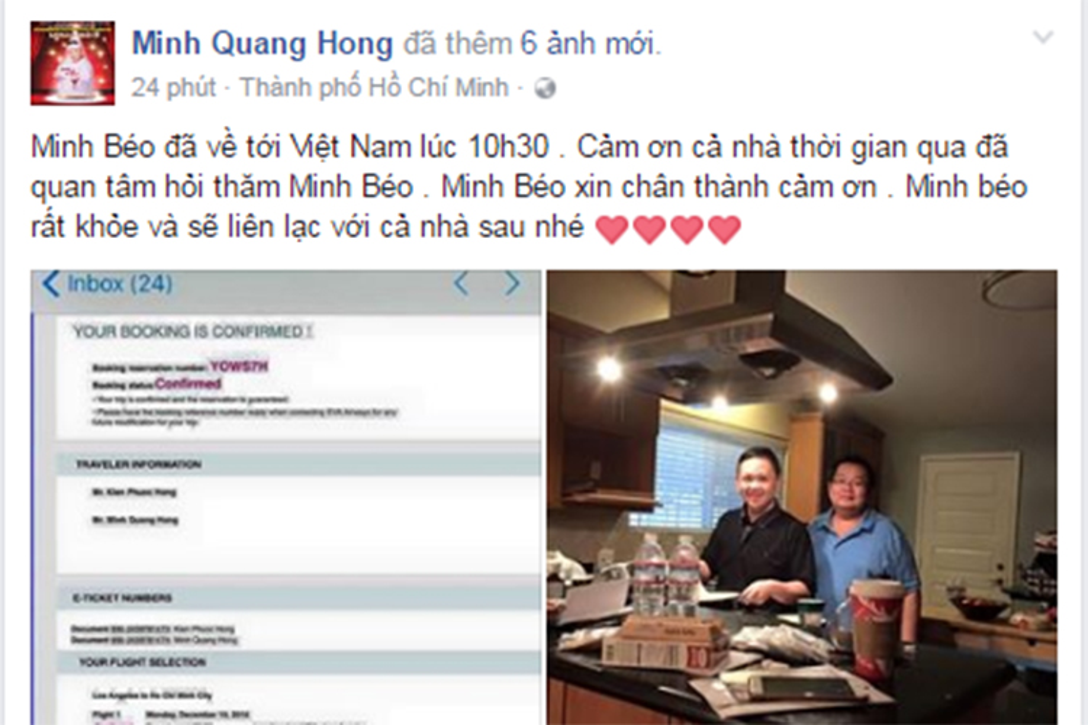 Hinh anh Minh Beo ve nuoc sau khi man han tu