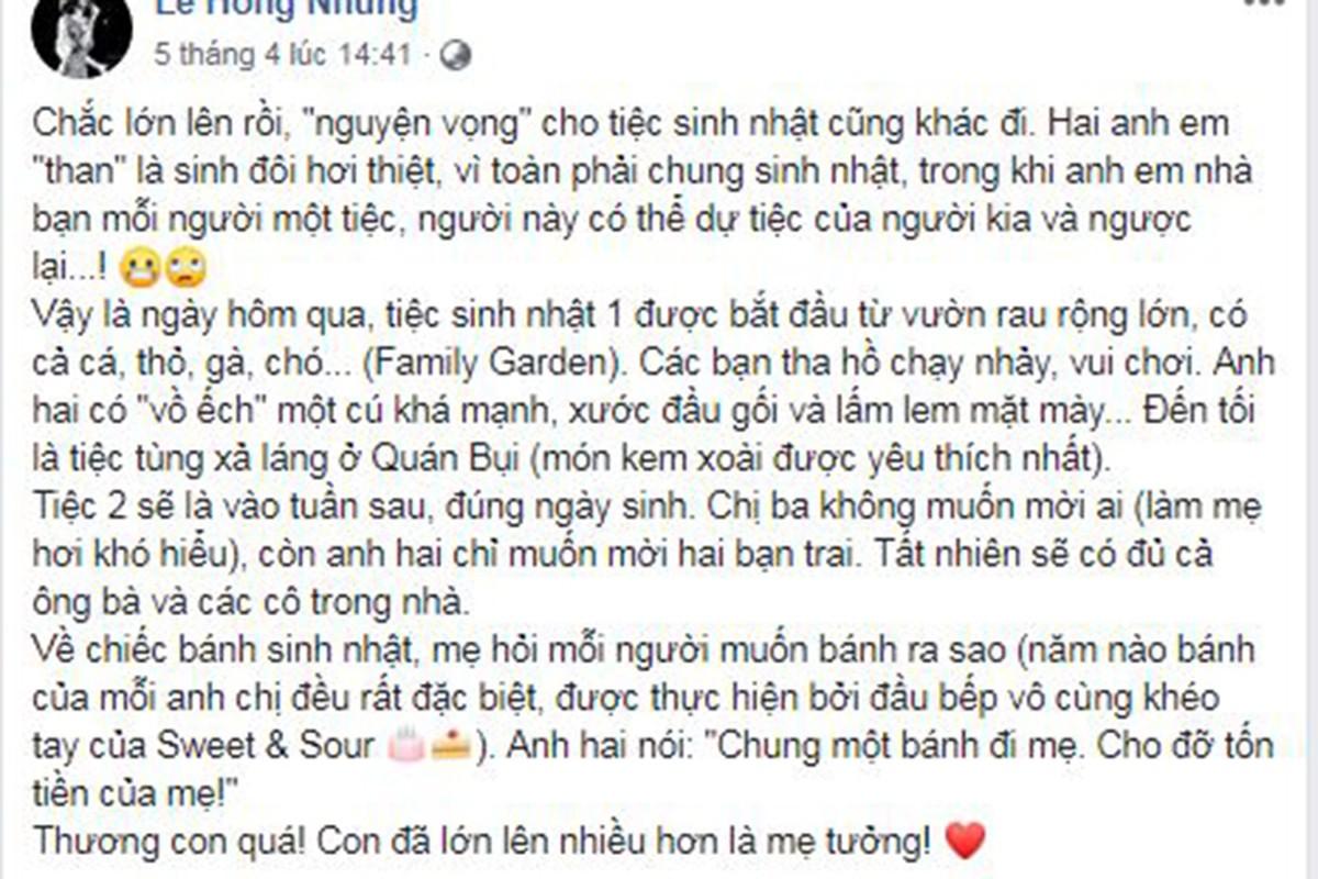 Sau tin chong cu tai hon, Hong Nhung khoe con, duoc ban be dong vien-Hinh-3