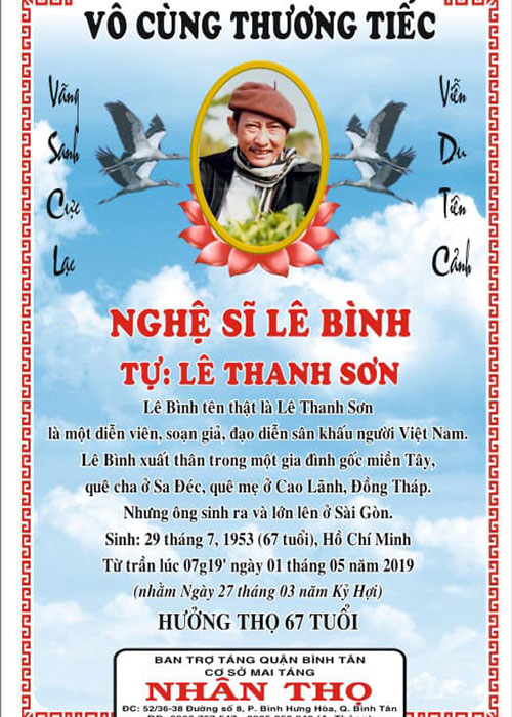 Thuy Hanh, My Uyen khoc sung mat vieng nghe si Le Binh