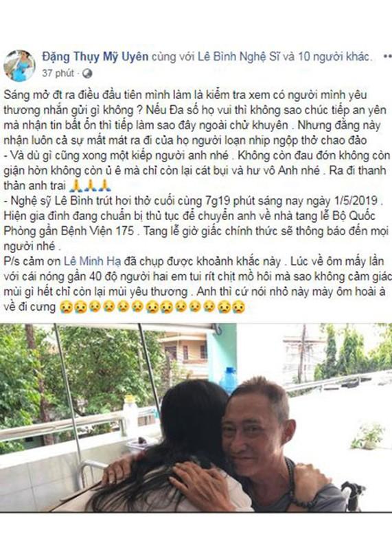 Nghe si Le Binh qua doi, sao Viet dau buon, tiec thuong-Hinh-15