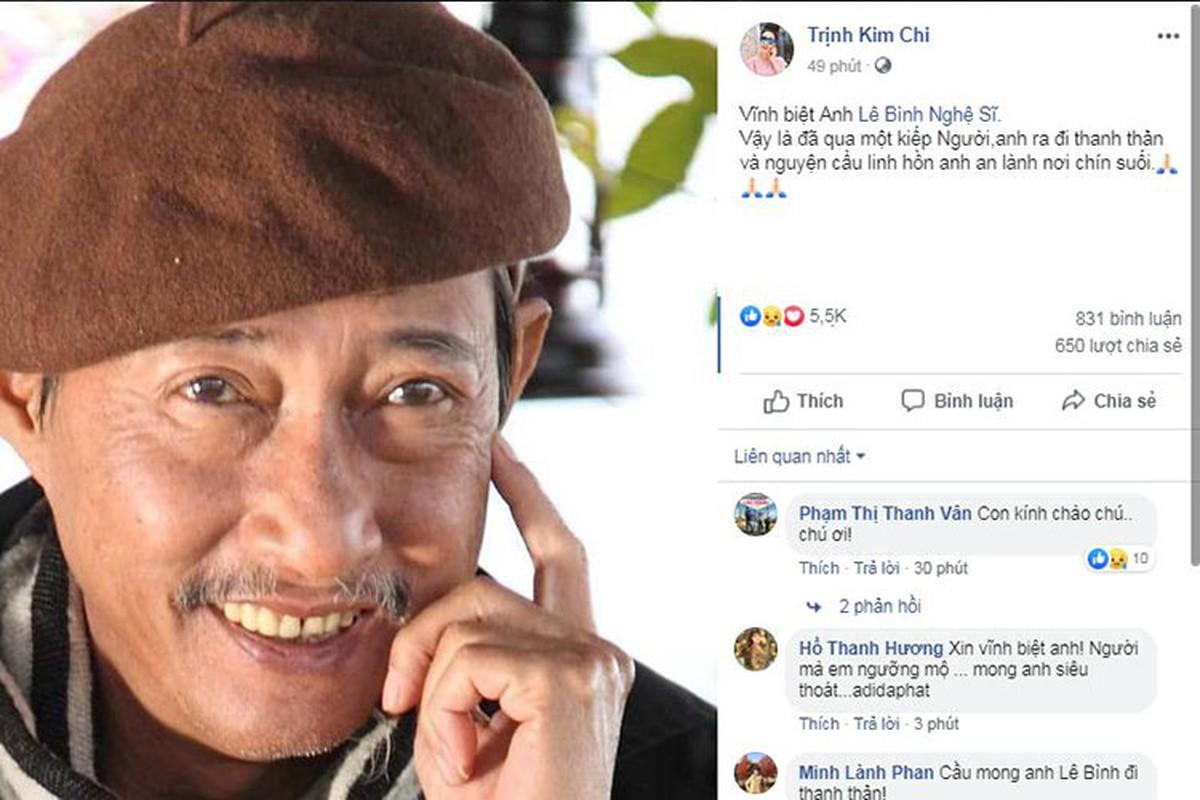 Nghe si Le Binh qua doi, sao Viet dau buon, tiec thuong-Hinh-17
