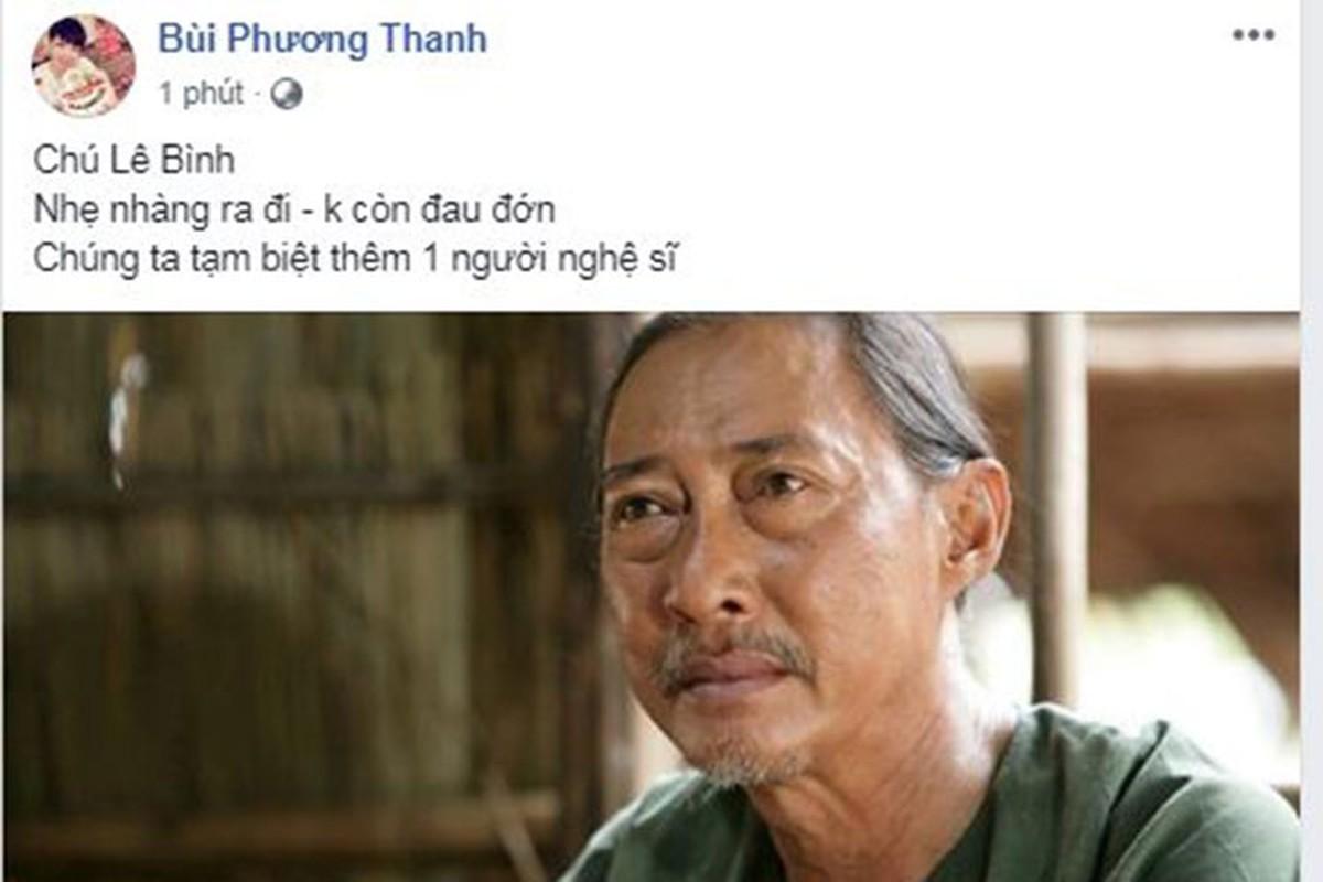 Nghe si Le Binh qua doi, sao Viet dau buon, tiec thuong-Hinh-19