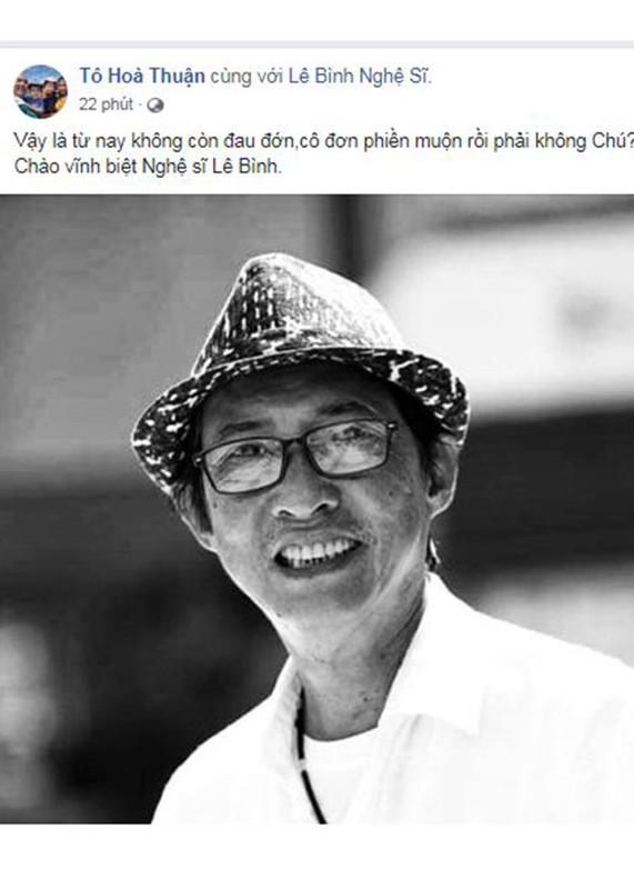 Nghe si Le Binh qua doi, sao Viet dau buon, tiec thuong-Hinh-26