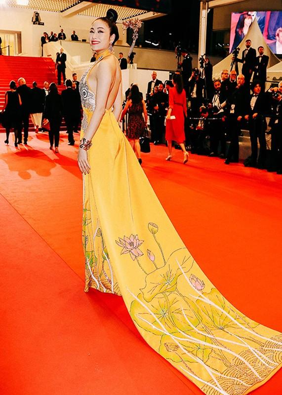 Du Cannes 2019, Truong Thi May mac kin dao, khac han Ngoc Trinh-Hinh-13