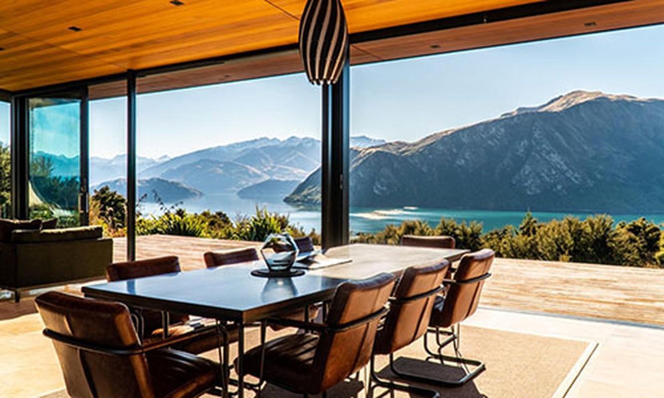 Can biet thu 'tua nui nhin ho' tren day Alps cua New Zealand