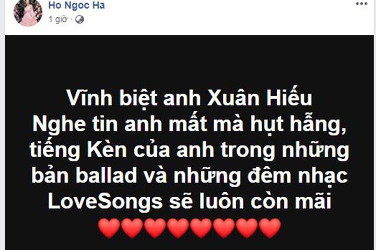 Ha Ho va loat sao Viet tiec thuong NS Xuan Hieu qua doi vi ung thu-Hinh-2