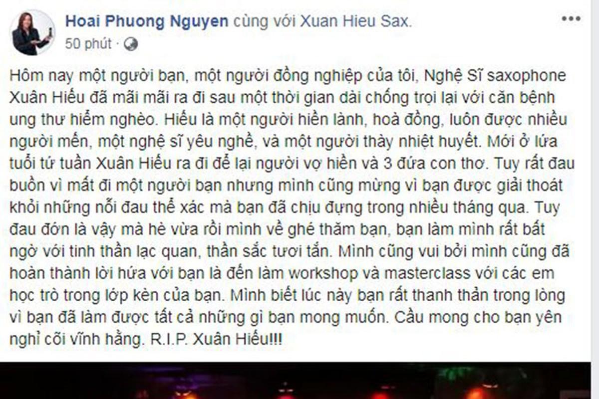 Ha Ho va loat sao Viet tiec thuong NS Xuan Hieu qua doi vi ung thu-Hinh-3