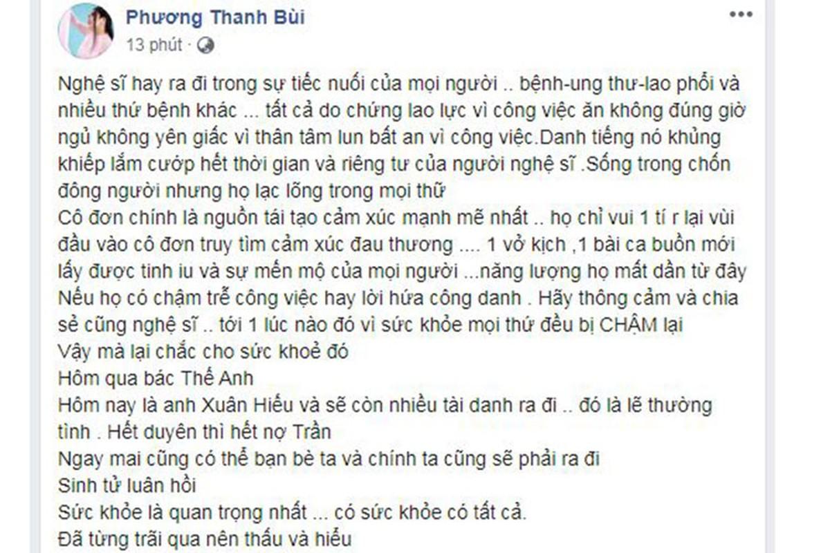 Ha Ho va loat sao Viet tiec thuong NS Xuan Hieu qua doi vi ung thu-Hinh-7